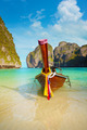 Traditional long tail boat, Thailand Phi-Phi island. - PhotoDune Item for Sale