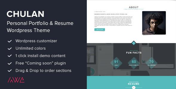Chulan - Personal Portfolio & Resume Theme