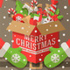Santa Claus Holding a Box with Christmas Gifts - GraphicRiver Item for Sale