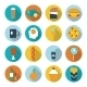 Set of Flat Design Icons for Food and Drink.  - GraphicRiver Item for Sale