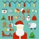 Christmas Concept with Flat Icons and Santa - GraphicRiver Item for Sale