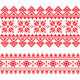 Traditional Folk Knitted Red Embroidery Pattern  - GraphicRiver Item for Sale