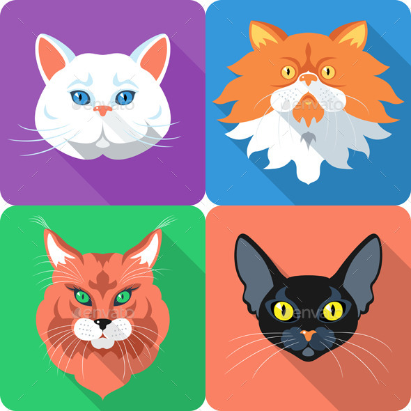 GraphicRiver Cat Icon Set 9226319