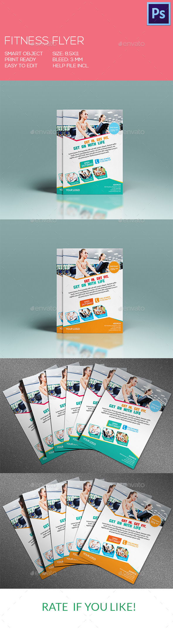 GraphicRiver Fitness Flyer 9194526