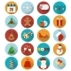 Christmas Flat Icons Set.  - GraphicRiver Item for Sale