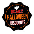 Scary Halloween discounts label - PhotoDune Item for Sale