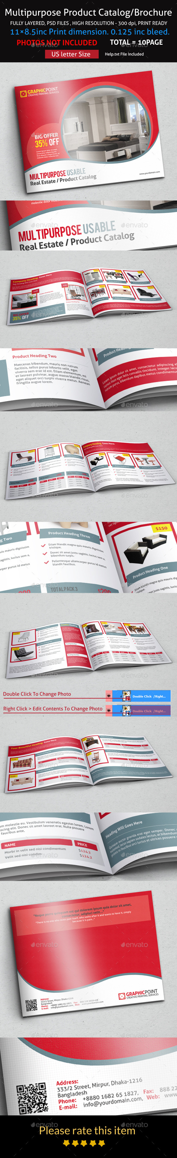GraphicRiver Multipurpose Product Catalog Brochure 9226487