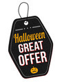 Halloween great offer leather label or price tag - PhotoDune Item for Sale