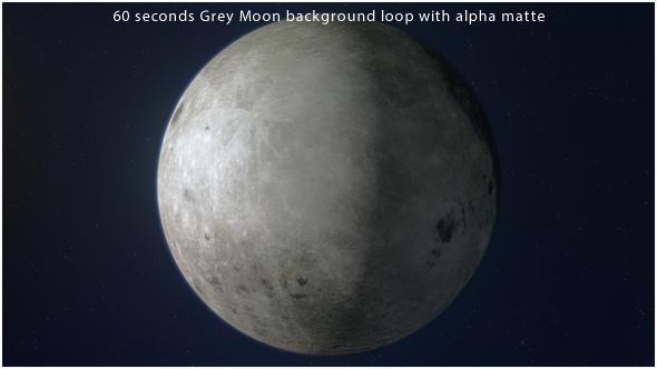 Grey Moon 360 Degrees Rotating