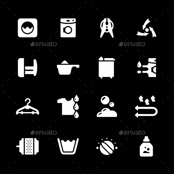 Set Icons of Laundry
