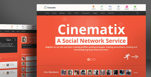 Cinematix BuddyPress Theme