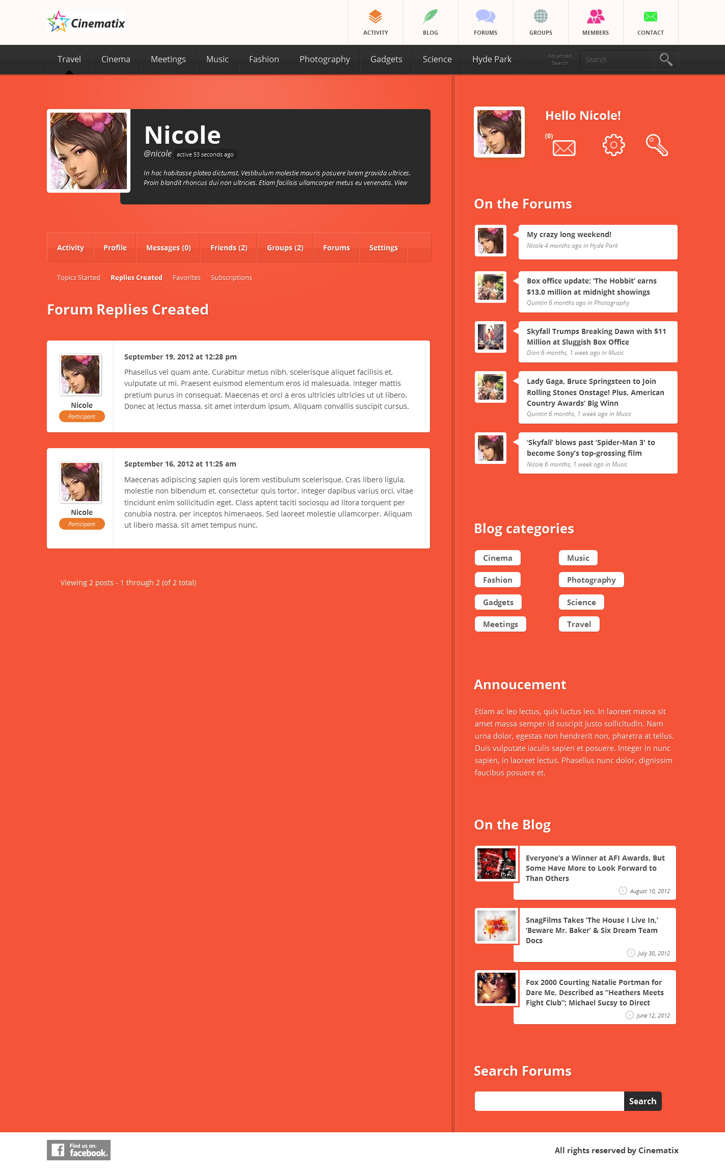 Cinematix - BuddyPress Theme