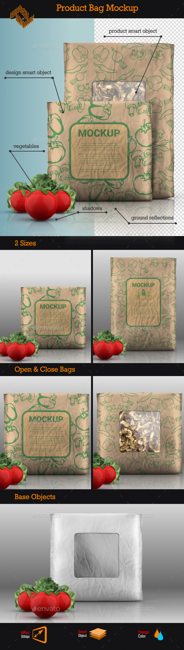 GraphicRiver Food Product Bag Mockup 9226760
