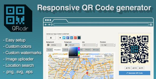 CodeCanyon QRcdr responsive QR Code generator 9226839