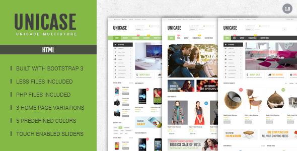 ThemeForest Unicase Electronics eCommerce HTML Template 9226901