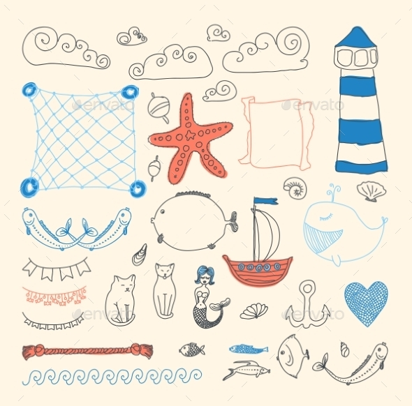 GraphicRiver Sea Objects Collection 9227364