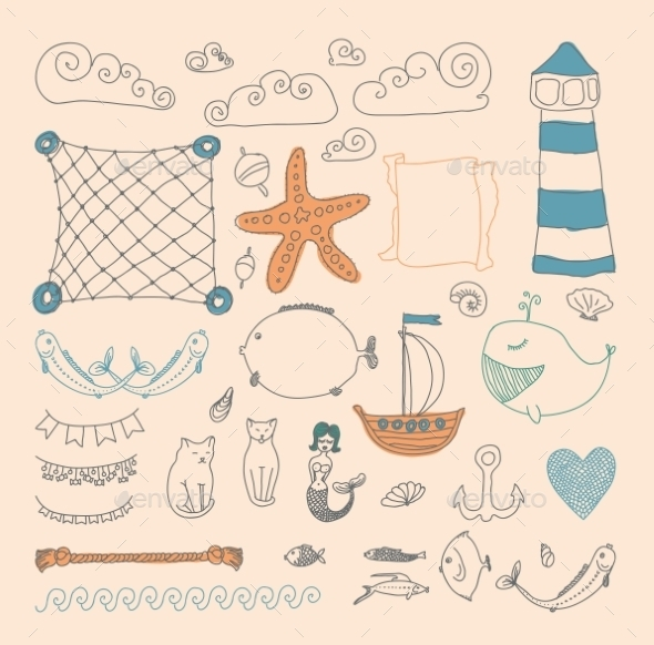 GraphicRiver Sea Objects Collection 9227368