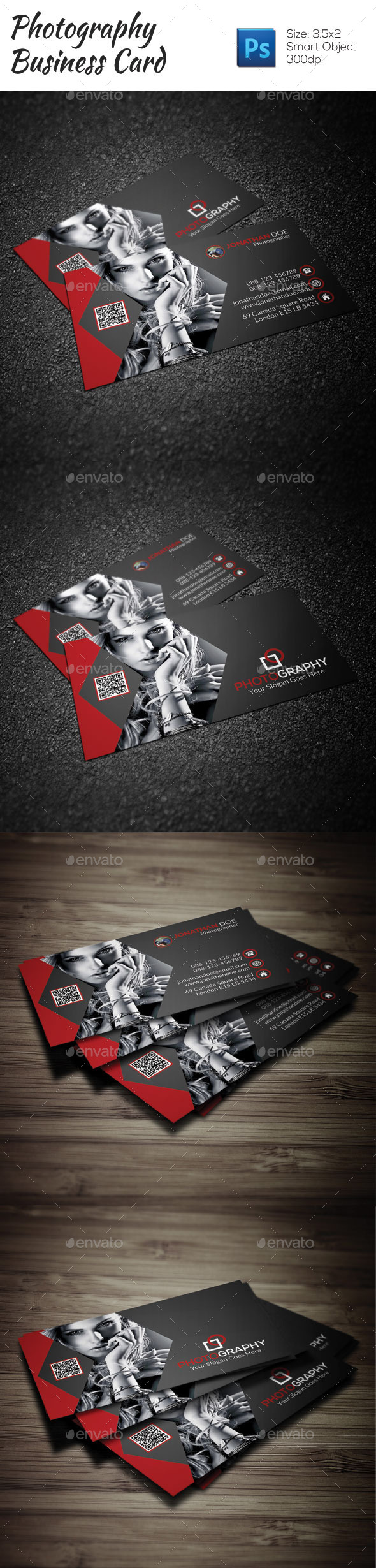 GraphicRiver Photography Business Card 9227408