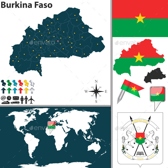 GraphicRiver Map of Burkina Faso 9227422