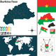 Map of Burkina Faso - GraphicRiver Item for Sale