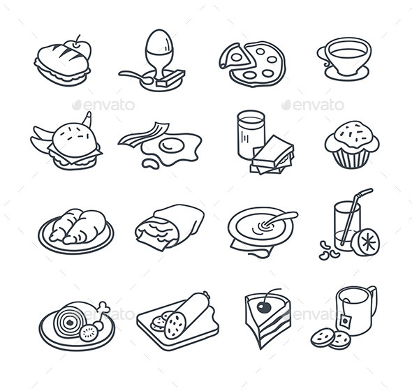 GraphicRiver Food Icons Collection 9227424
