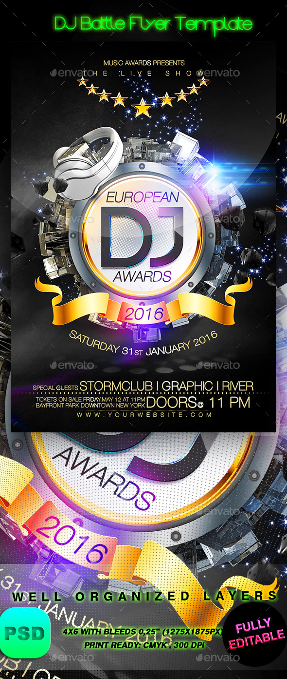 GraphicRiver DJ Battle Flyer Template 9227443