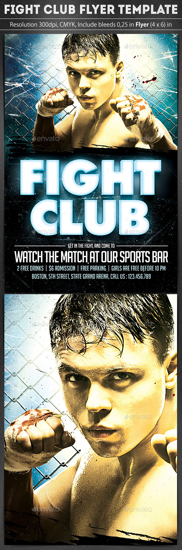 GraphicRiver Fight Club Flyer Template 9227468