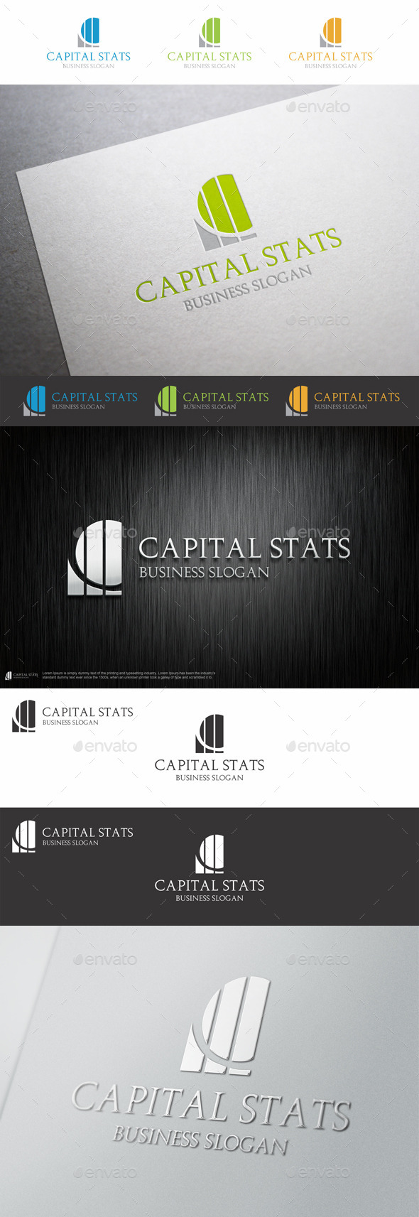 GraphicRiver Capital Stats C Letter Logo 9227565