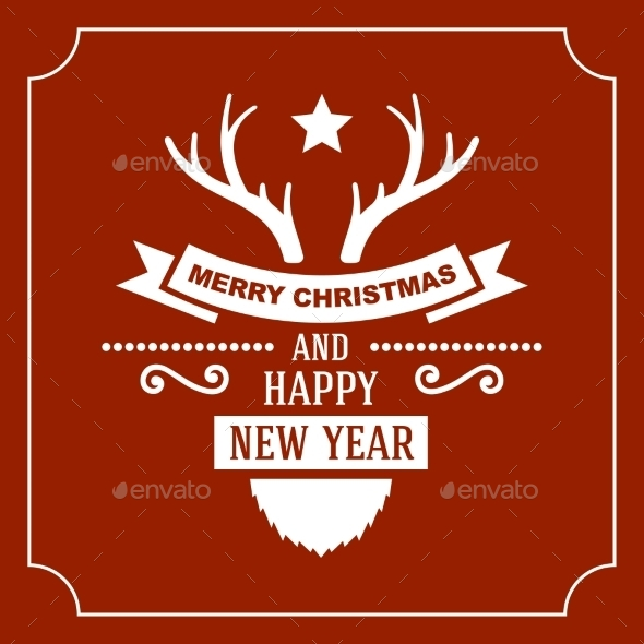 GraphicRiver Greeting Christmas and New Year Card 9227808