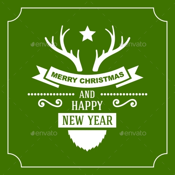 GraphicRiver Greeting Christmas and New Year Card 9227809