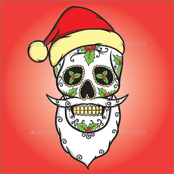GraphicRiver Christmas Skull 9214890