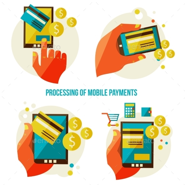 GraphicRiver Processing of Mobile Payments 9227974