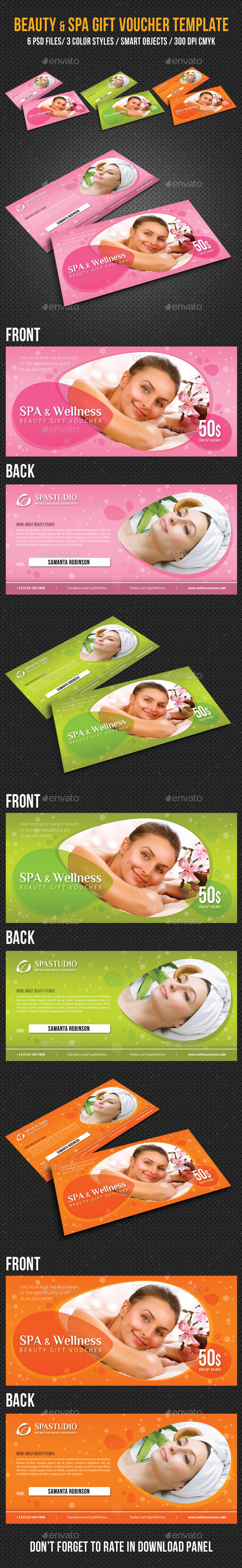 GraphicRiver Spa and Wellness Gift Voucher V01 9227976