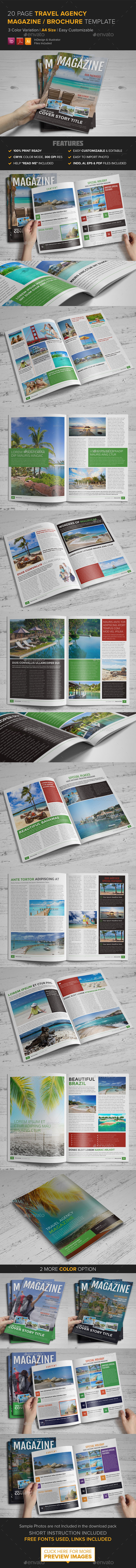 GraphicRiver Travel Agency Magazine Brochure Template InDesig 9227979