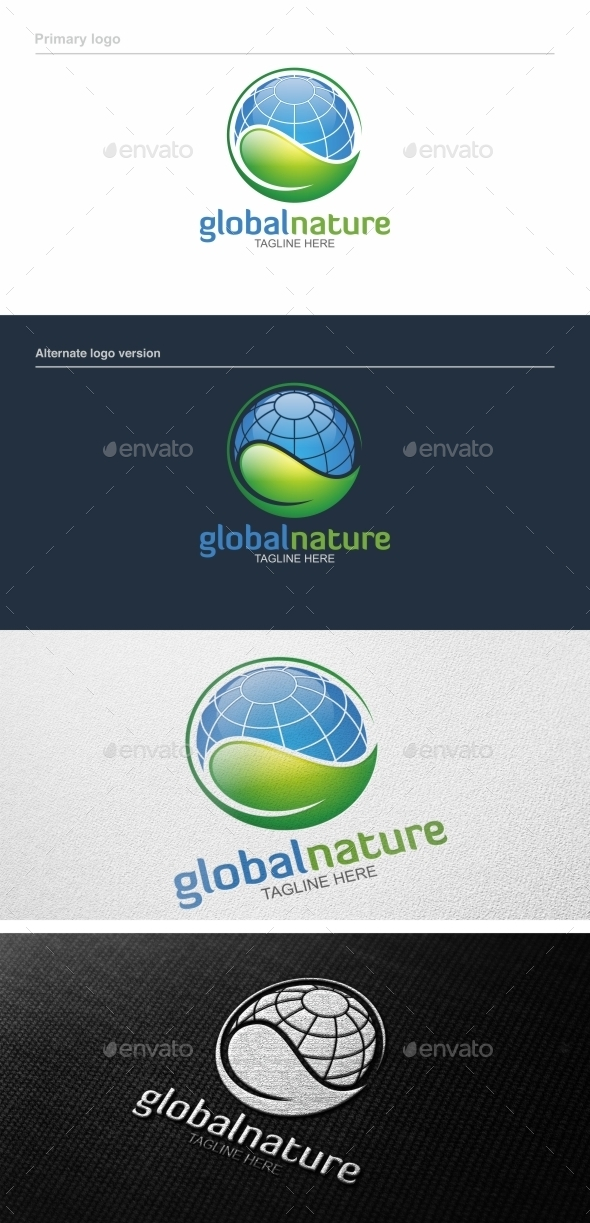 GraphicRiver Global Nature Logo Template 9228001