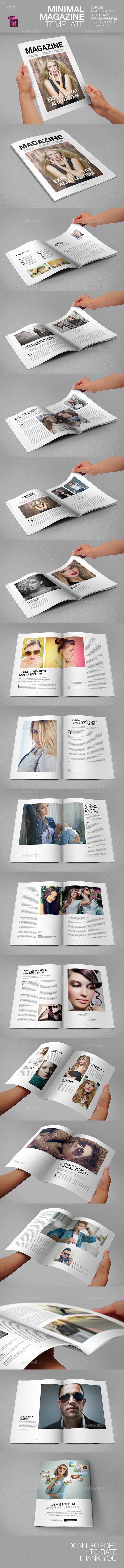GraphicRiver Minimal Magazine Template 9228003
