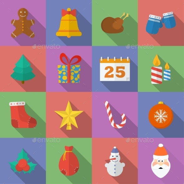 GraphicRiver Set of Christmas Icons 9228051