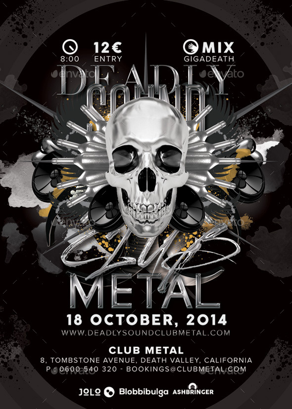 GraphicRiver Deadly Sound Club Metal Party 9228057