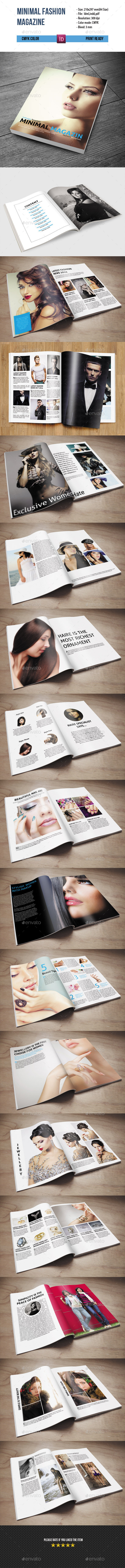 GraphicRiver Minimal Fashion Magazine Template-34 Pages 9228077