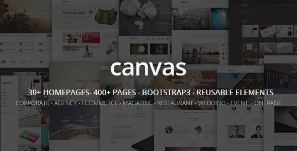 ThemeForest Canvas The Multi-Purpose HTML5 Template 9228123