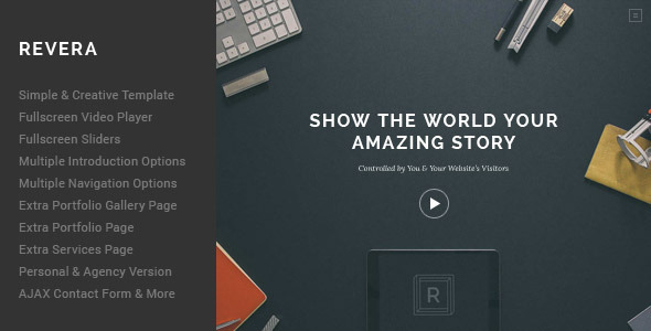 ThemeForest Revera Simple and Creative Portfolio Template 9228128