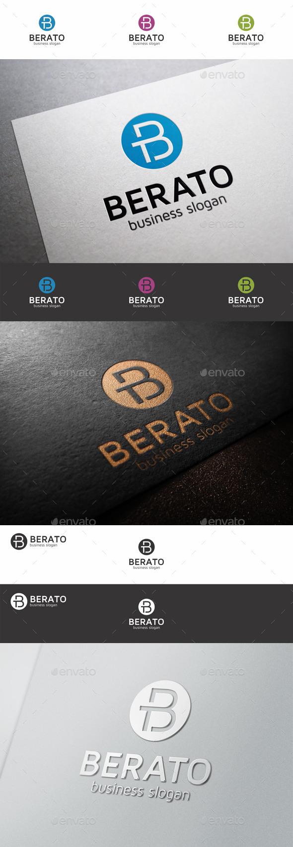 GraphicRiver B Letter Logo Berato TB 9228146