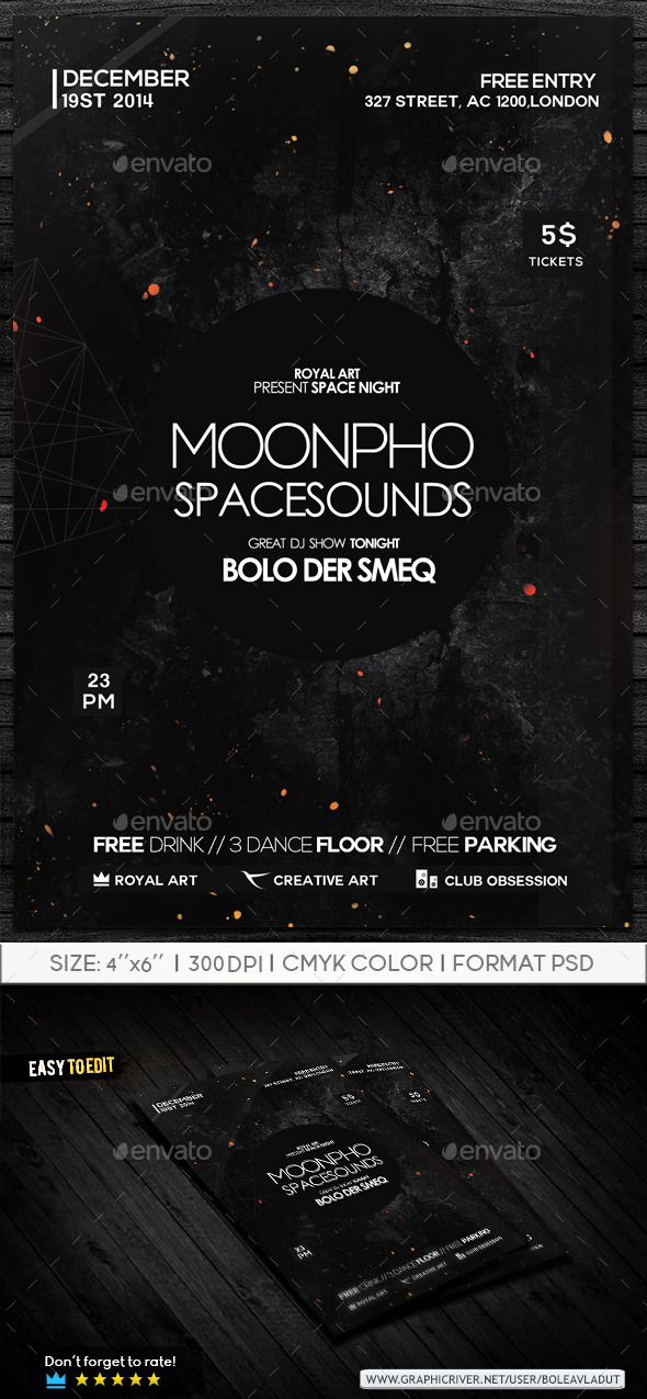 GraphicRiver Abstract Night Flyer 9167821