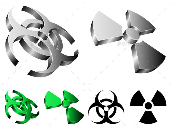 GraphicRiver Biohazard and Radiation Signs 9228624