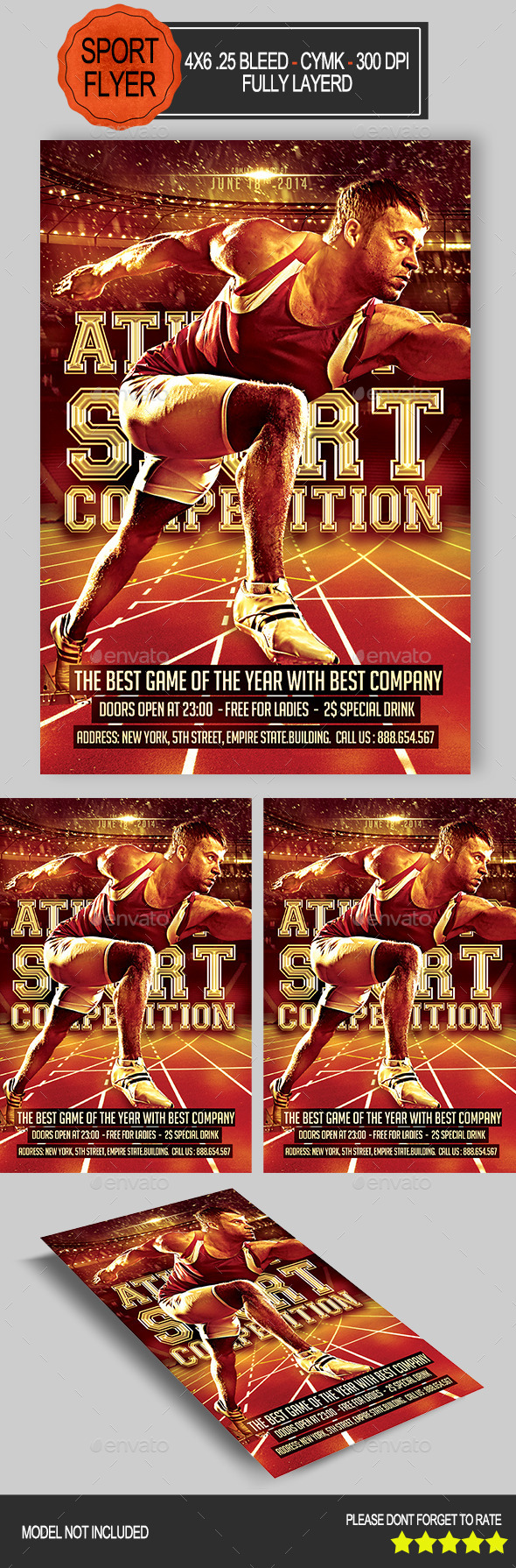GraphicRiver Athletic Competition Flyer 9228660