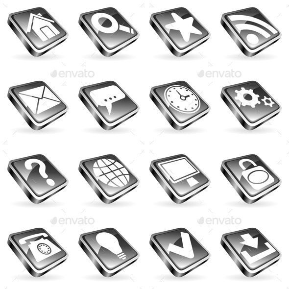 GraphicRiver Web Icons 9228686