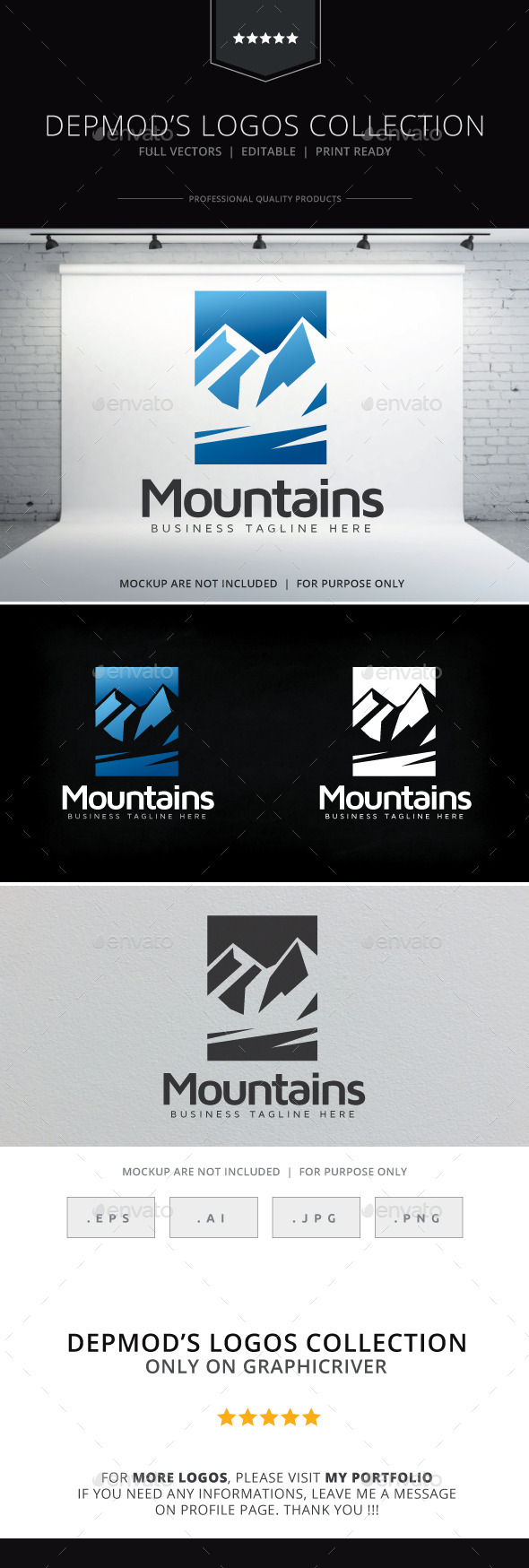 GraphicRiver Moutains Logo 9228793