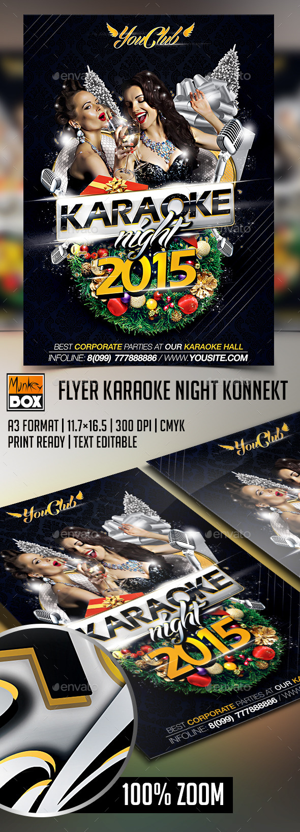 GraphicRiver Flyer Karaoke Night Konnekt 9228838