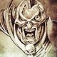 Tattoo art, sketch of a fantasy warrior, future knight - PhotoDune Item for Sale