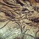 dragon Tattoo sketch, handmade design over vintage paper - PhotoDune Item for Sale
